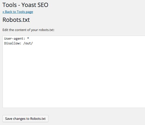 editer robots.txt via Yoast SEO