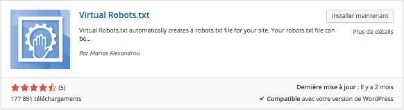 Virtual Robots.txt